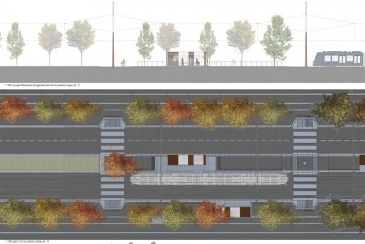 Luxtram - plan type de station